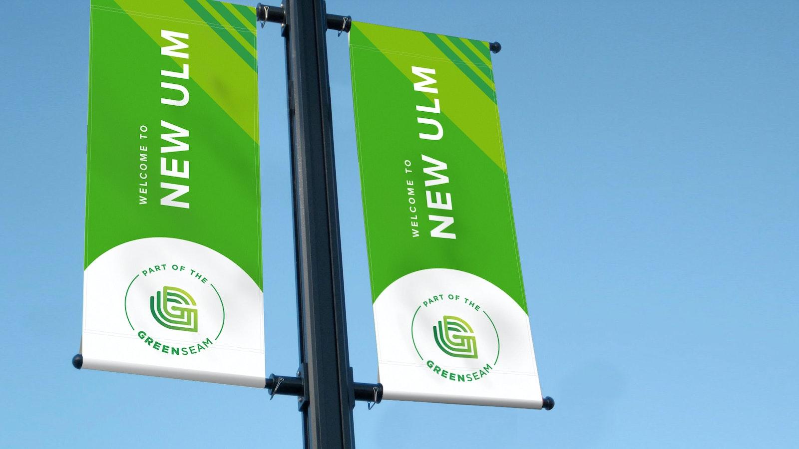 Green Seam Street Banner