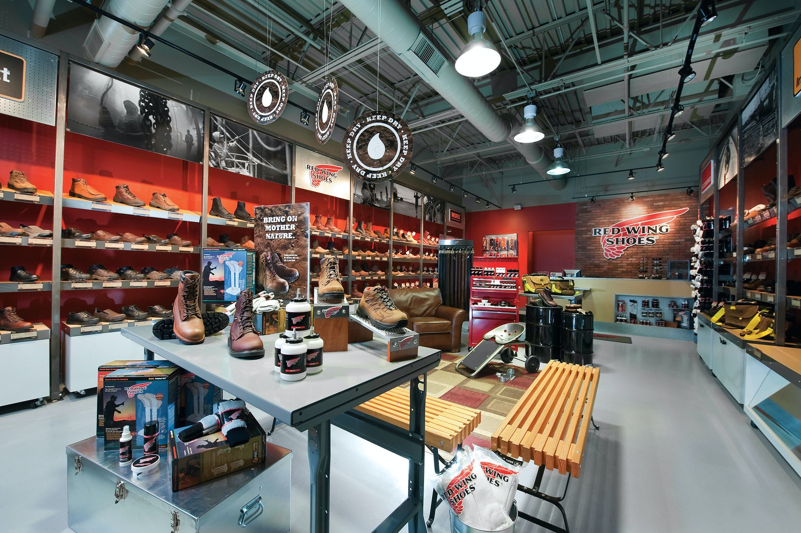 Red Wing Store Inside A
